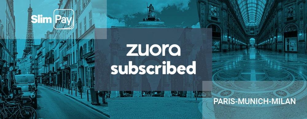 Retrouvez SlimPay à Zuora Subscribed 2019